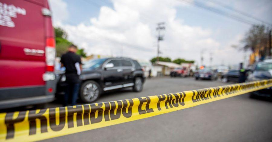 Ein Absperrband der Polizei an einem Tatort in Mexiko.