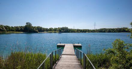 Der Echinger See, der unweit der Autobahn nördlich der bayerischen Hauptstadt liegt.