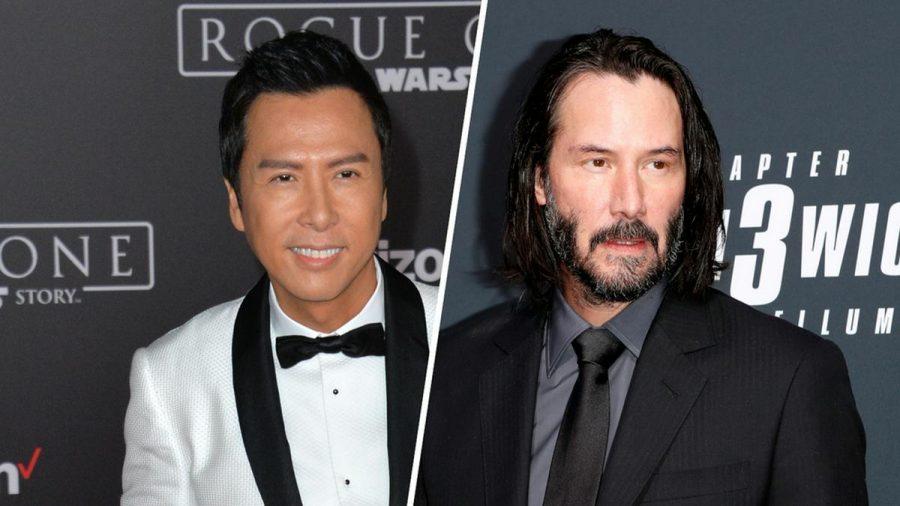 "In ""John Wick: Kapitel 4"" zu sehen: Donnie Yen (li.) und Keanu Reeves (eee/spot)"