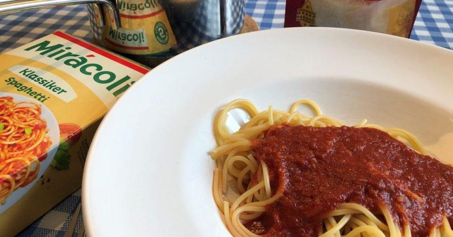 Ein Miracoli-Nudelgericht. Pasta, basta: Mehr als die Hälfte der Verbraucher isst mindestens einmal pro Woche ein Nudelgericht, heißt es vom Nudelverband.