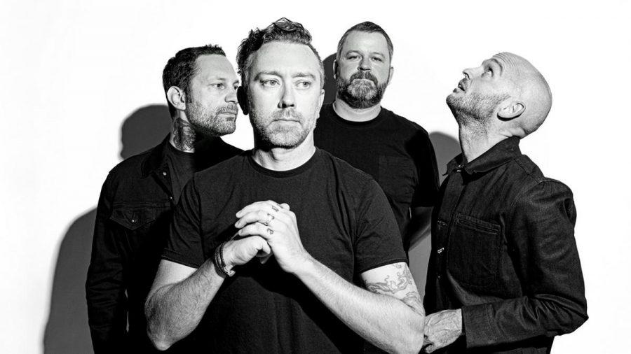 """Rise Against (v.l. Joe Principe, Tim McIlrath, Brandon Barnes und Zach Blair) veröffentlichen ihr neues Album """"Nowhere Generation"""". (tae/spot)"""