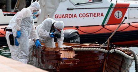Italienische Forensiker bei der Arbeit.