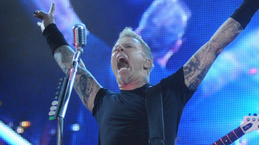 James Hetfield von Metallica während eines Auftritts in Rio (wue/spot)