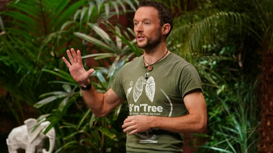 Chris Kaiser stellt sein Start-up B'n'Tree vor. (jom/spot)