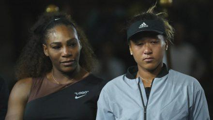 Serena Williams (l.) und Naomi Osaka bei den US Open 2018. (eee/spot)