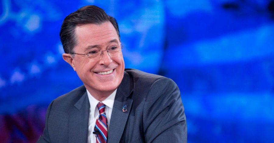 Stephen Colbert empfängt wieder Gäste im Studio.