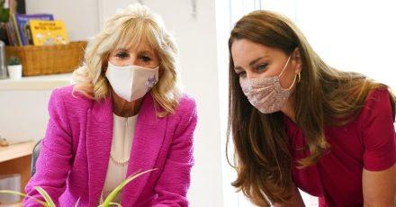 First Lady Jill Biden und Herzogin Kate, beim Besuch einer Vorschulklasse.