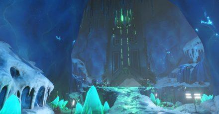 Welches Geheimnis birgt wohl diese mysteriöse Maschine in der Eishöhle?