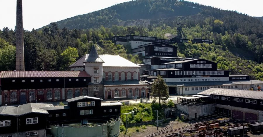 Blick auf das UNESCO-Weltkulturerbe Besucherbergwerk Rammelsberg.