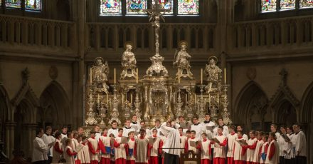 Die Regensburger Domspatzen im Dom St. Peter.