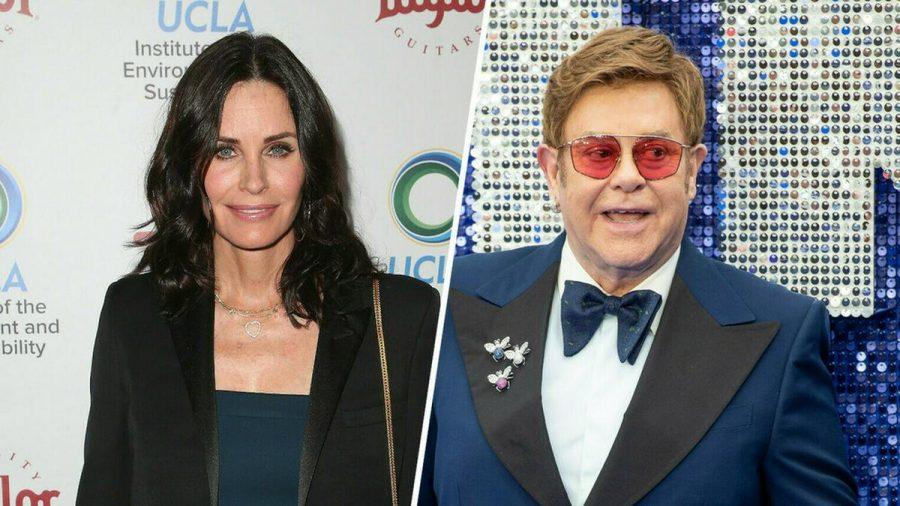 Hätten glatt auch Duett-Potenzial: Courteney Cox und Elton John (stk/spot)