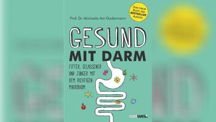 """Das Buch """"Gesund mit Darm"""" von Prof. Dr. Michaela Axt-Gadermann (eee/spot)"""
