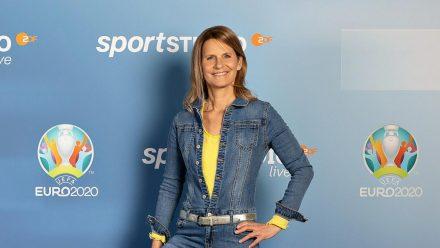 "Katrin Müller-Hohenstein moderiert das ""sportstudio live - UEFA EURO 2020"". (ili/spot)"