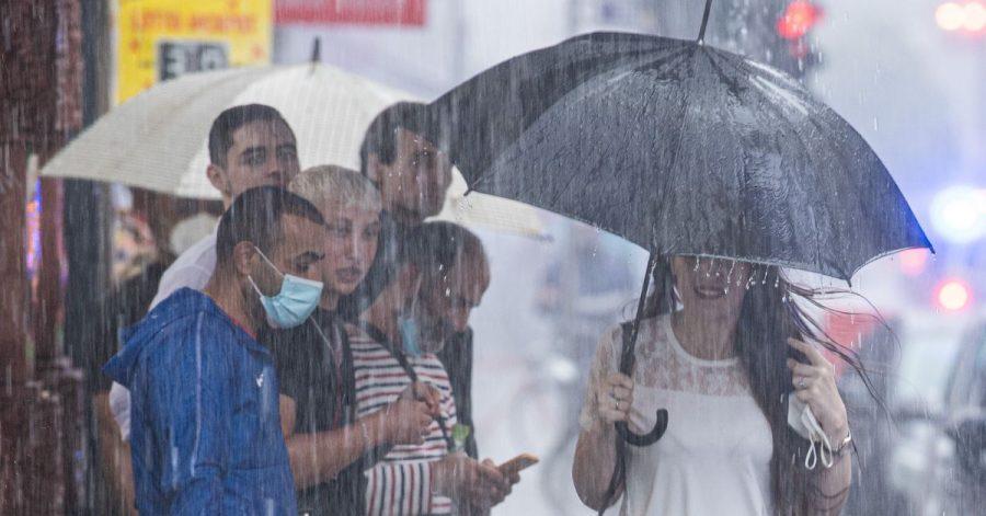 Am Wochenende kam es durch Starkregen zu zahlreichen Einsätzen von Polizei und Feuerwehr.