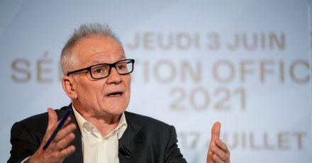 Thierry Frémaux, Direktor der Internationalen Filmfestspiele von Cannes, stellt die offiziellen Auswahl der Filmfestspiele vor.