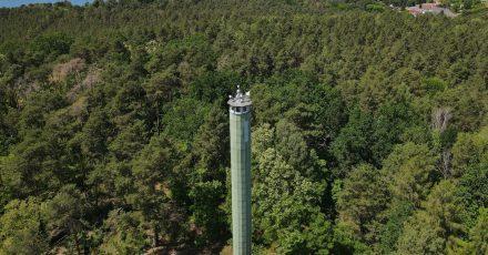 Der Feuerwachturm Zesch nahe Wünsdorf vom Landesbetrieb Forst Brandenburg.