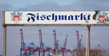Der Fischmarkt am Hamburger Hafen.