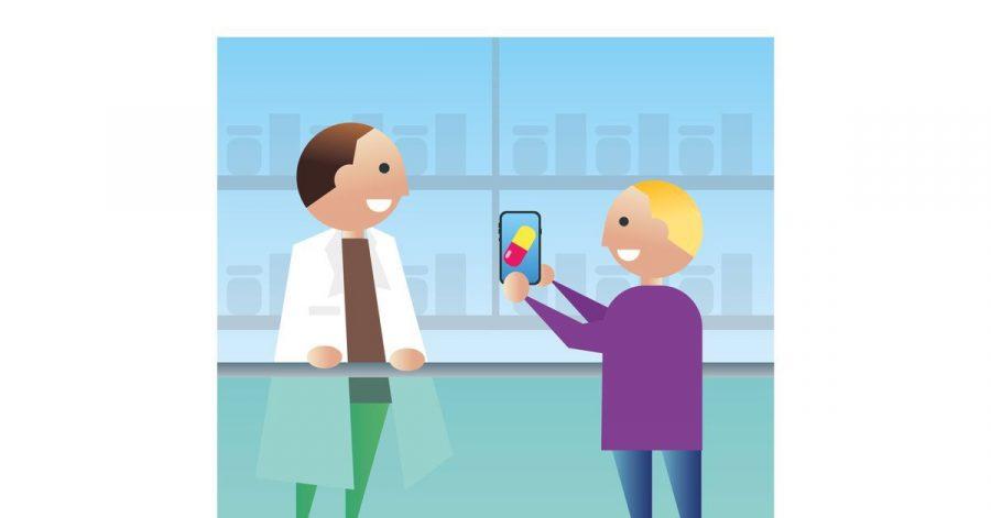 Statt eines rosa Zettels zeigen Nutzer des E-Rezepts in der Apotheke die Verordnung des Arztes auf ihrem Smartphone vor.