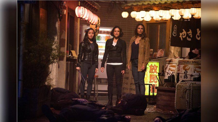 "Justin Lin Anna Sawai, Michelle Rodriguez und Jordana Brewster im neunten Teil der ""The Fast and the Furious""-Reihe. (nra/spot)"