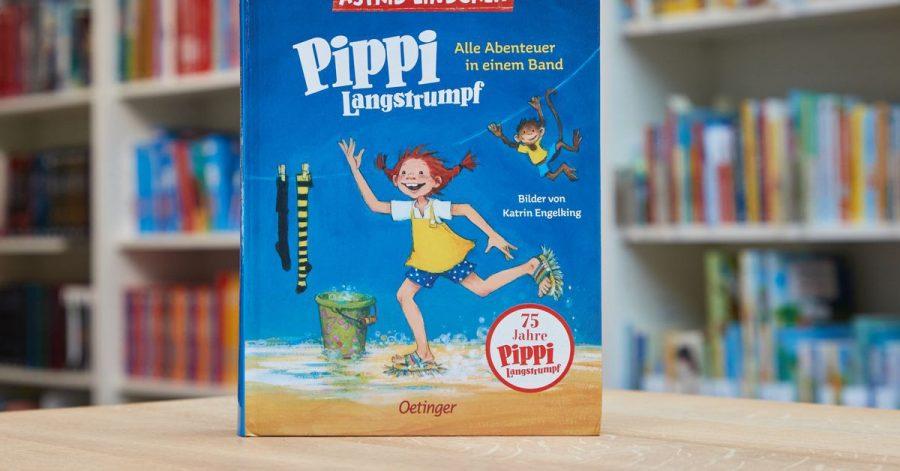 Der Bestseller «Pippi Langstrumpf» von Astrid Lindgren, alle Abenteuer in einem Band, erschienen im Oetinger Verlag,