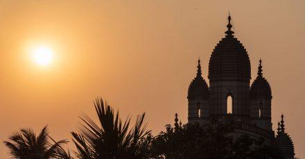 Ein romantisches Reisemotiv aus Indien, wo die Delta-Variante zuerst nachgewiesen wurde.