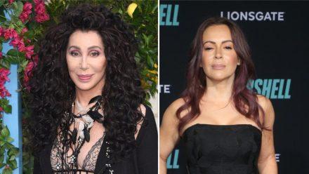 Cher (l.) und Alyssa Milano haben eine klare Meinung zum Strafmaß im Fall des ermordeten George Floyd. (stk/spot)