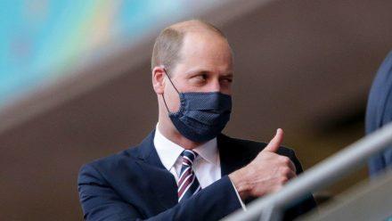 Prinz William gefiel, was er beim Spiel England gegen Tschechien von der Tribüne im Wembley-Stadion aus sah.  (stk/spot)