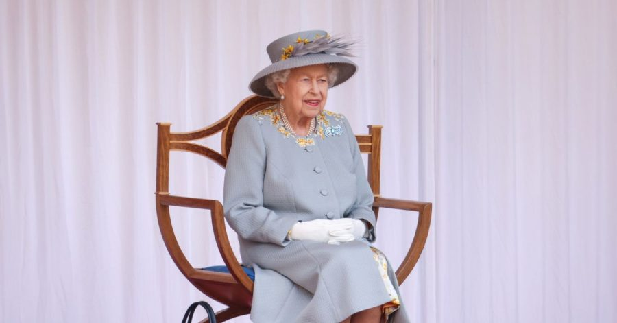 Königin Elizabeth II. von Großbritannien bei der Parade zu ihrem Geburtstag.
