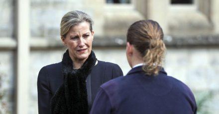 Sophie, die Gräfin von Wessex, bei einem Gottesdienst auf Schloss Windsor.