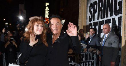 «Springsteen On Broadway»: The Boss und seine Frau Patti Scialfa verlassen das Walter Kerr Theater.