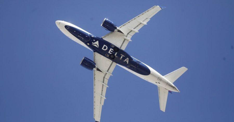 Ein Flugzeug der Fluggesellschaft Delta. Ein renitenter Passagier hat ein Flugzeug der Airline vorzeitig zur Landung gezwungen.