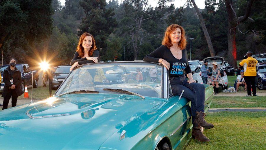 """""""Thelma & Louise""""-Reunion mit den Schauspielerinnen Susan Sarandon (r.) und Geena Davis. (ili/spot)"""
