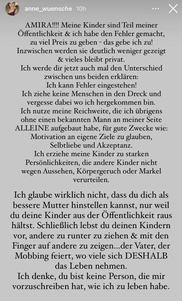 """Anne Wünsche geht auf Amira Pocher los: Nicht die """"bessere Mutter""""!"""