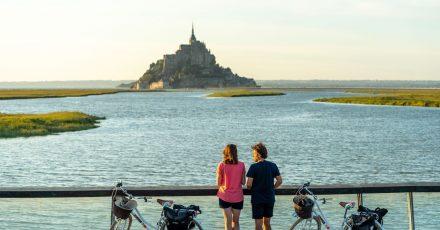 Der Küstenradweg Vélomaritime führt auch am Mont-Saint-Michel vorbei.