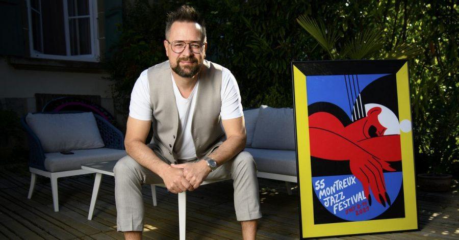 Mathieu Jaton, Direktor des Montreux Jazz Festivals, während der Vorstellung des Programms des kommenden Montreux Jazz-Festivals.