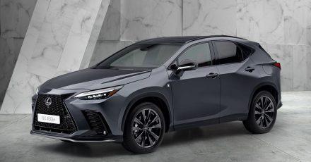Elektrischer Rückenwind: Lexus startet die zweite Generation des NX auch mit einem Plug-in-Hybrid, der das SUV bis zu rund 60 Kilometer rein elektrisch fahren lassen kann.