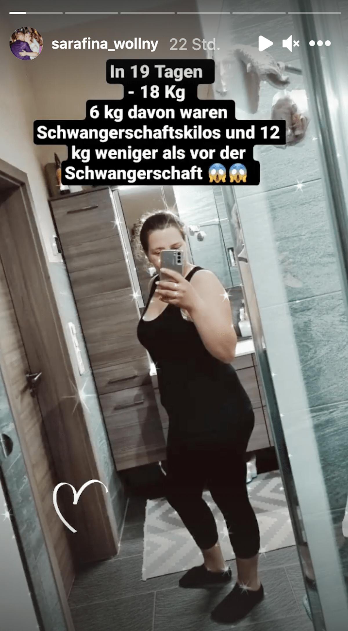 Sarafina Wollny erschlankt: 12 Kilo weniger als vor der Schwangerschaft