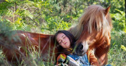 Cécile (Elisa de Lambert) und Poly, das Pony, sind ganz eng.