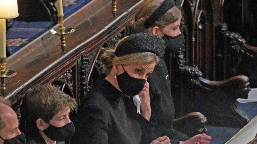 Sophie von Wessex auf der Beerdigung von Prinz Philip (wue/spot)