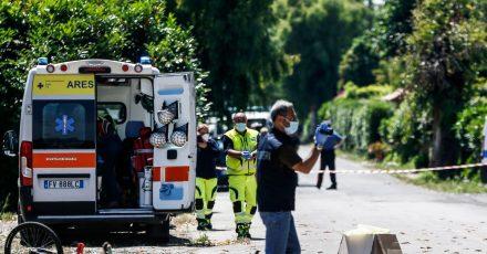 In einer kleinen Ortschaft südlich von  Rom sind ein Mann und zwei Kinder bei Schüssen tödlich verletzt worden.
