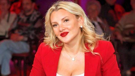 Evelyn Burdecki während einer TV-Aufzeichnung im vergangenen Jahr (wue/spot)