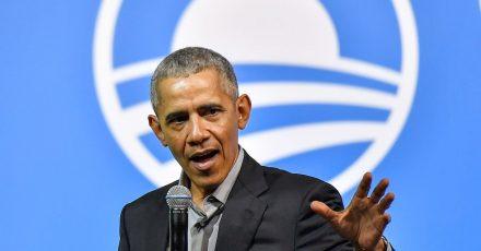 Ein stolzer Vater:Barack Obama.