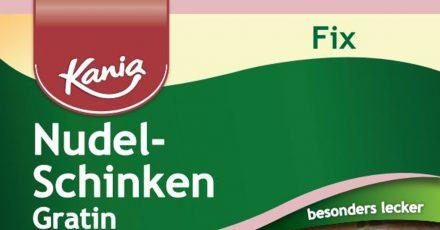 Der Schweizer Hersteller Haco ruft das Produkt «Kania Fix Nudel-Schinken Gratin» zurück.