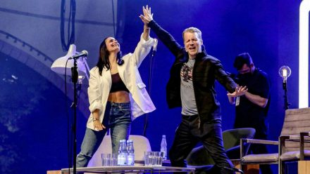 Die Pochers auf der Bühne in Hannover (wue/spot)