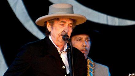 Bob Dylan während eines Auftritts in England (wue/spot)