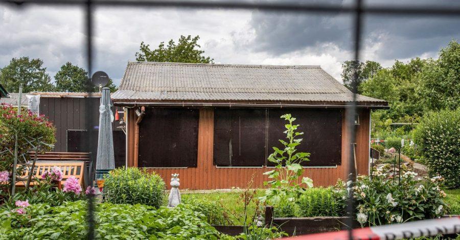 Diese Laube in einer Kleingartenkolonie am Stadtrand von Münsterist einer der Tatorte im Missbrauchskomplex.