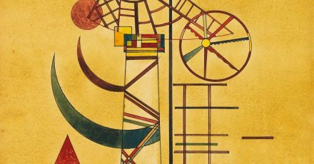 Das Kunstwerk «Gebogene Spitzen» des russischen Malers Wassily Kandinsky (undatiert).