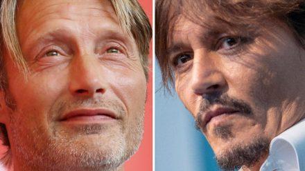 Mads Mikkelsen hat im vergangenen Jahr die Rolle des Gellert Grindelwald von Johnny Depp (r.) übernommen. (wue/spot)