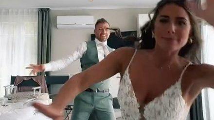 Sarah Engels und ihr Julian lassen es im Wedding-Look krachen
