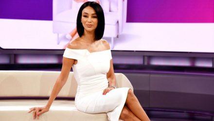 Verona Pooth in weißem Kleid
